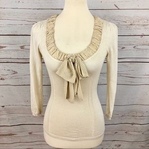 Nanette Lepore Vintage Silk Polka Dot Sweater